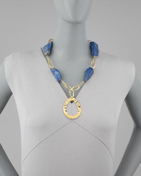 Lapis Rock Necklace