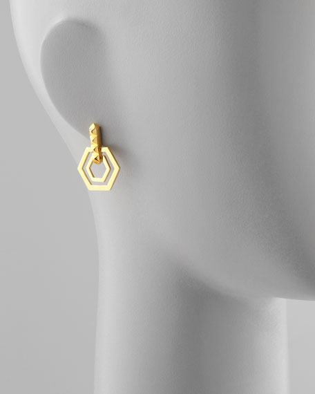 Small Edie Hexagonal Earrings
