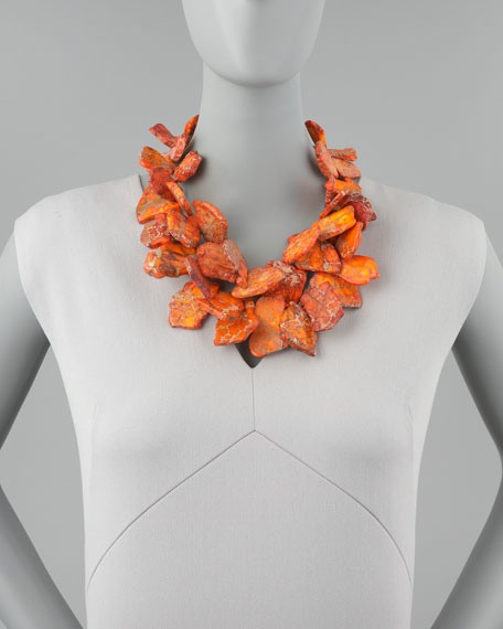 Chunky Orange Jasper Necklace