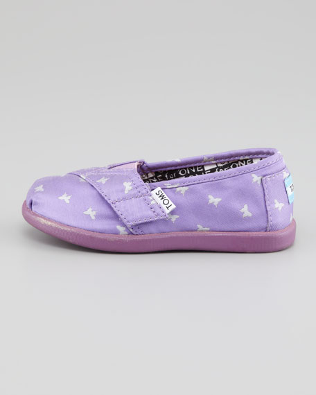 Tiny Woven Butterflies Shoe, Purple