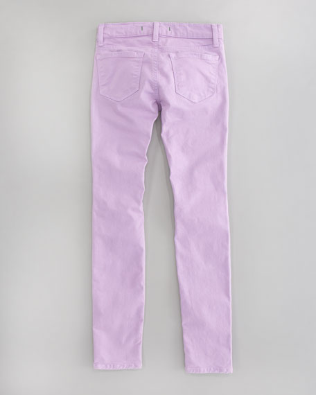 Luxe Twill Skinny Jeans, Drizzle
