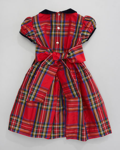 Plaid Silk Taffeta Dress