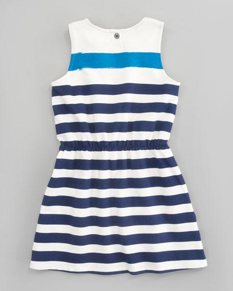 Bold Stripe Terry Dress, Ink Blue