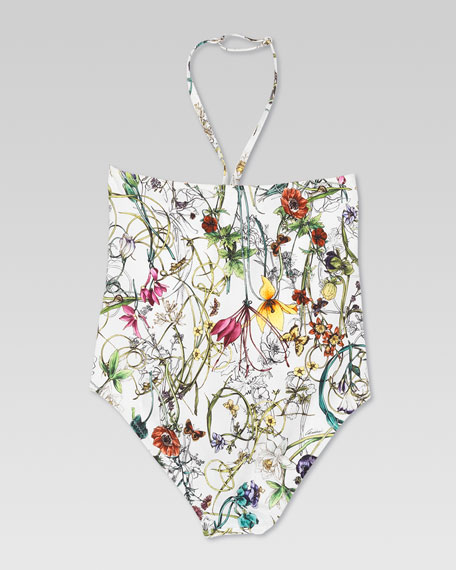 Gucci Floral One-Piece Swimsuit