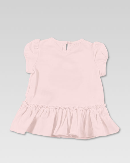 Bamboo Bag Print Dress, Powder Pink