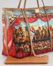 Miss Escape Printed Canvas Tote Bag
