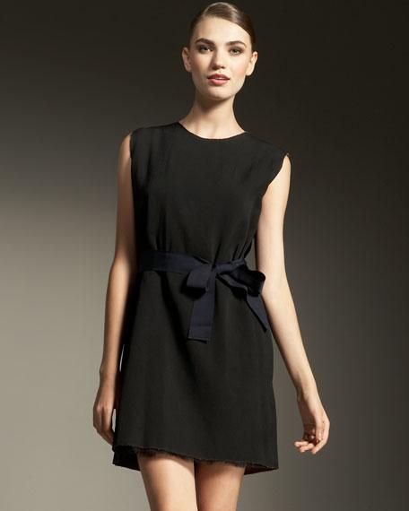 Reversible Tulle-Overlay Dress