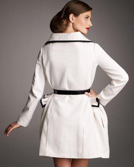 Piped Ruffle-Waist Coat
