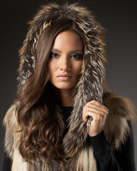 Knit Fox Hooded Vest