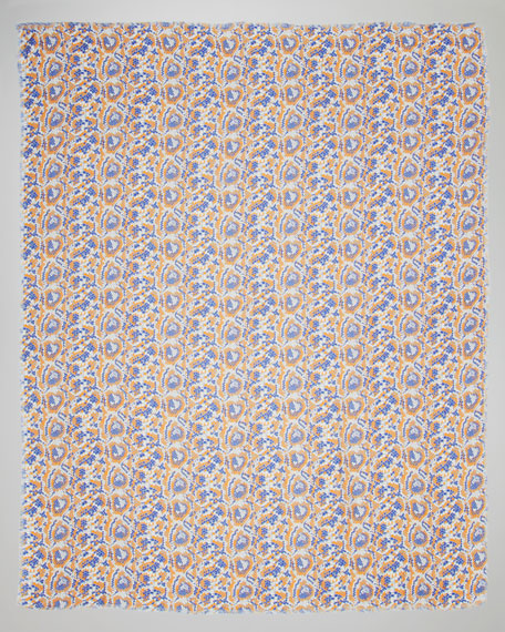 Mosaic-Print Scarf