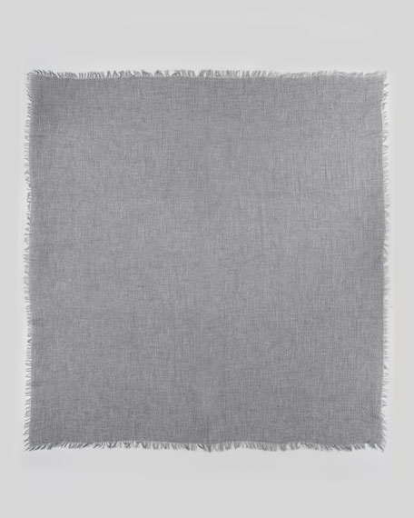 Ultra Lightweight Cashmere Scarf, Heather Gray