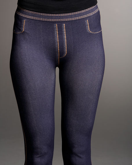 Seamless Stretch Jean-Printed Leggings