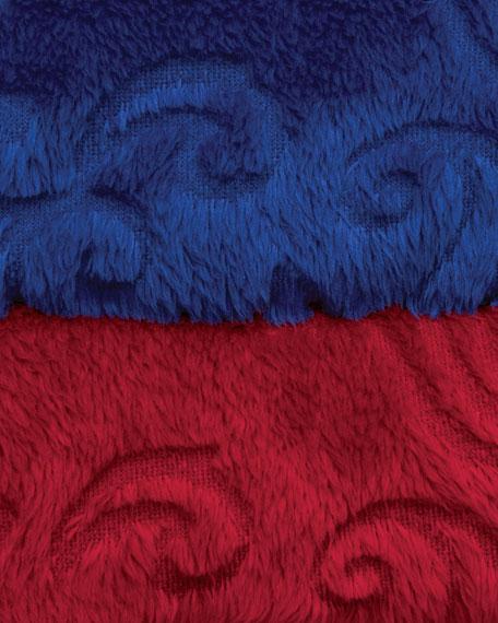 Plush Velour Scrollwork Robe