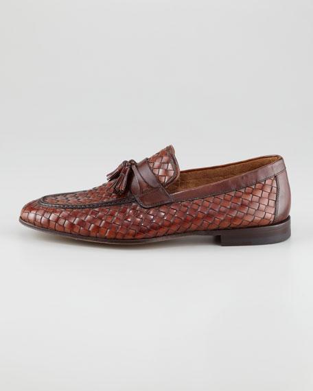 Woven Tassel Loafer, Brown