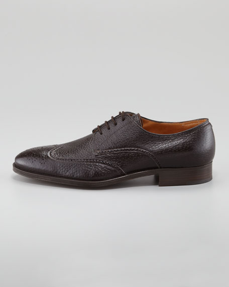 Peccary Wing-Tip Lace-Up
