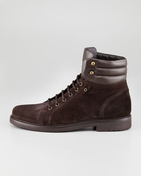 Lace-Up Suede Boot