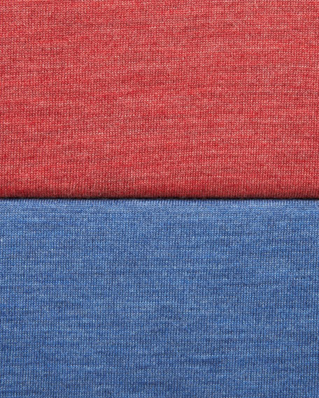 Tipped Crewneck Sweater, Denim