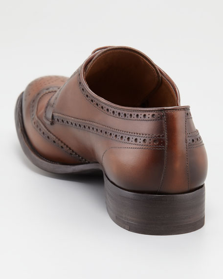 Vintage Leather Wing-Tip Oxford