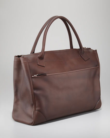 Front-Pocket Large Zip Tote Bag