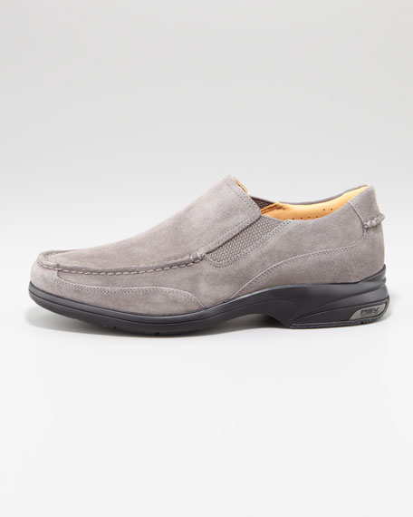 Gold Champ Suede Loafer, Gray
