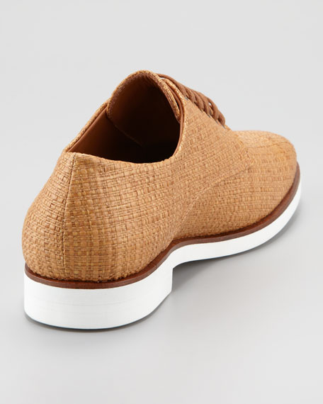 Raffia Lace-Up Derby