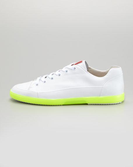 Low-Top Neon-Sole Sneaker