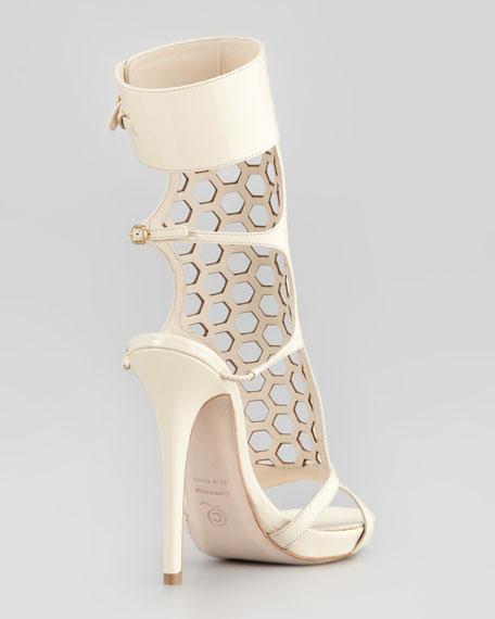 Honeycomb Patent Cage Sandal