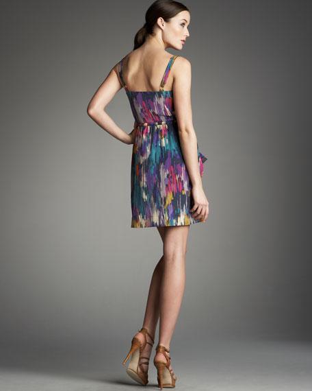 Ikat-Print Silk Tank Dress