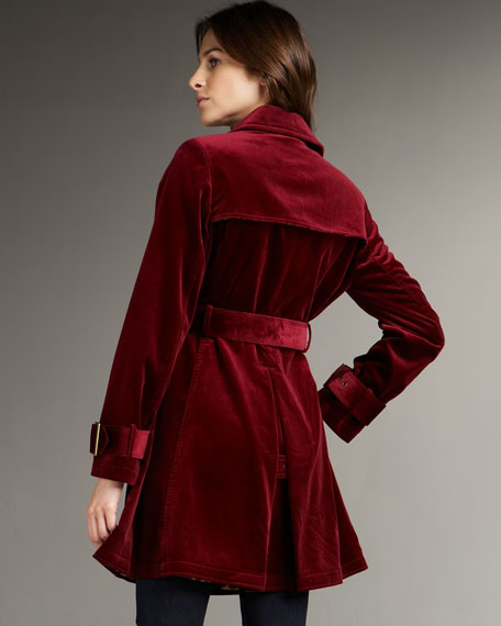 NM Exclusive Velvet Trench
