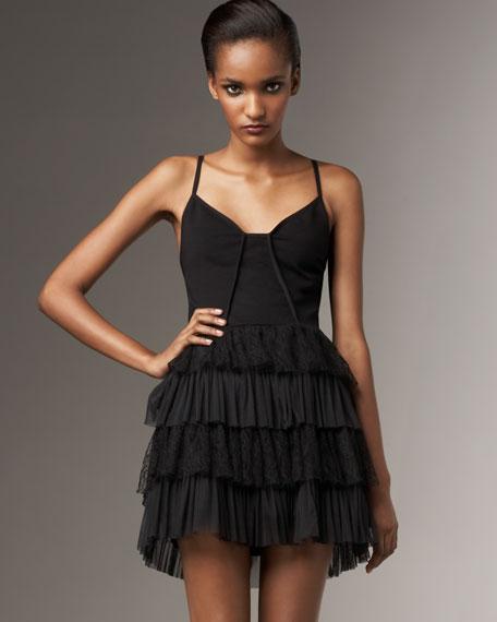 Taurus Lace Frill Dress