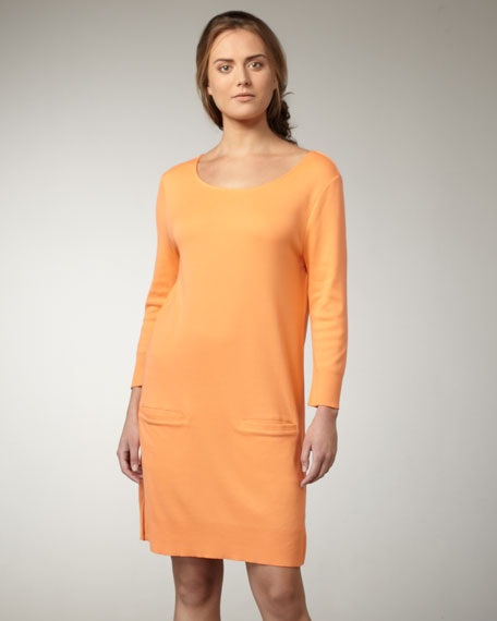 Knit Cotton Dress, Petite