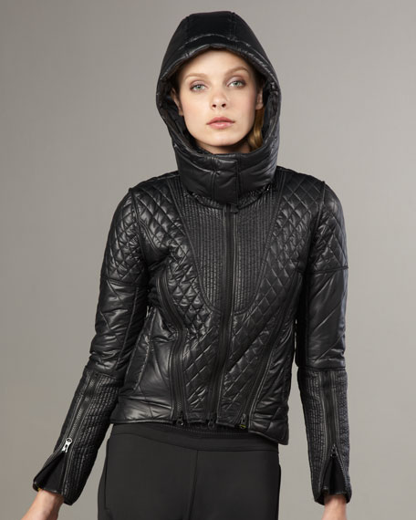 Quilted Ski Jacket, Black