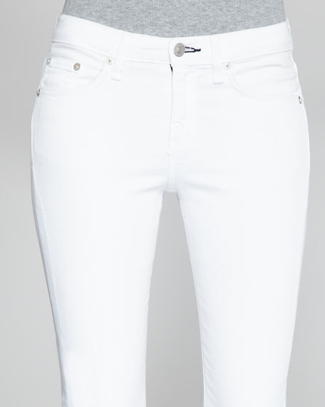 High-Rise Skinny Bright White Jeans