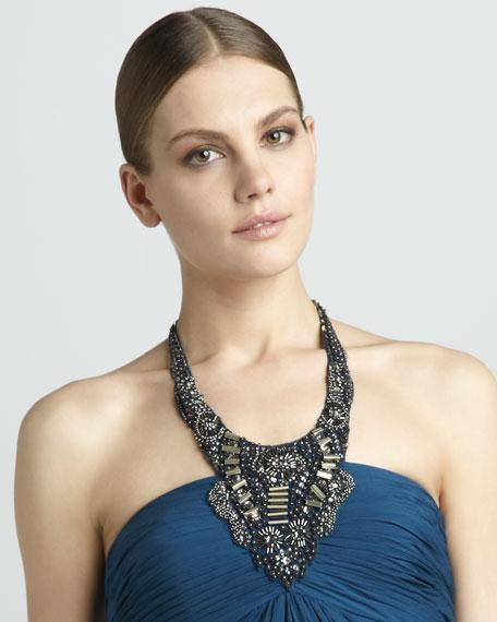 Embellished Halter Dress
