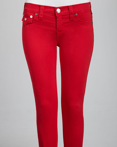 Brooklyn Overdyed Cherry Cropped Jeans