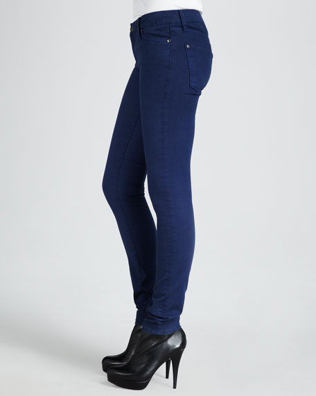 Five-Pocket Skinny Jeans, Arctic Blue