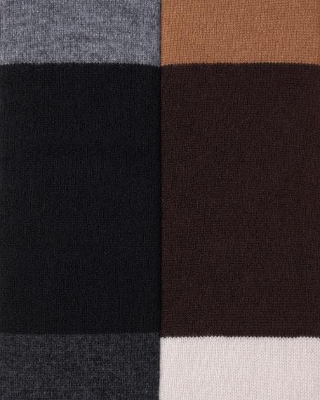 Colorblock Open Cardigan