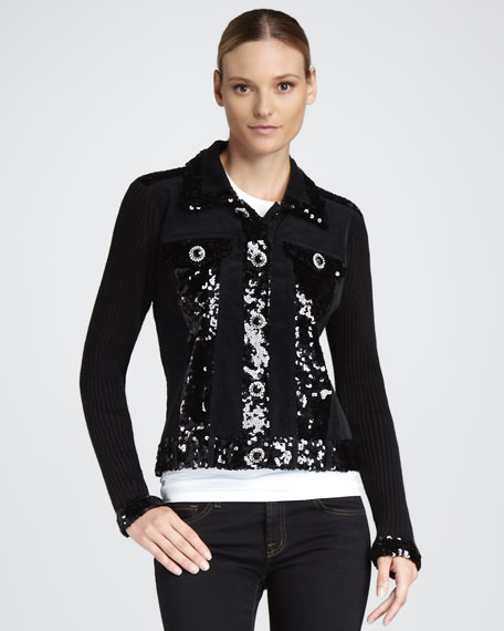 Dark in Fall Knit Jacket