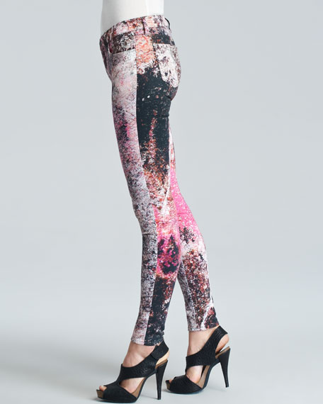 J Brand Jeans Supernova-Print Skinny Jeans