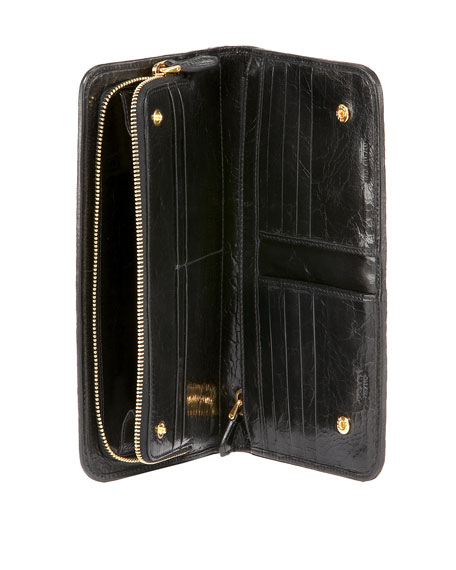 Paillettes Continental Wallet
