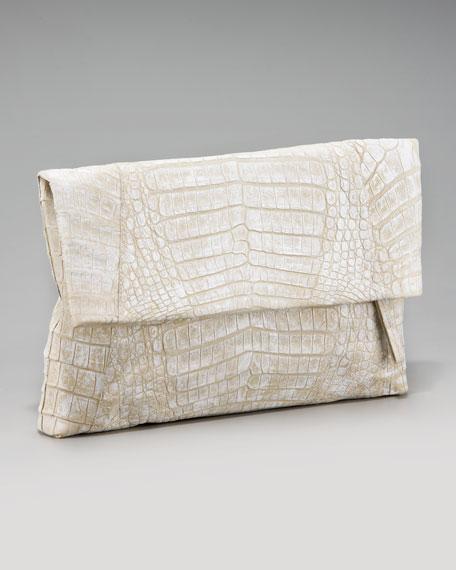 Crocodile Flap-Top Clutch