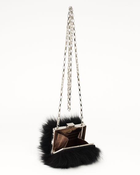 Hutton Runway Box-Frame Bag, Black