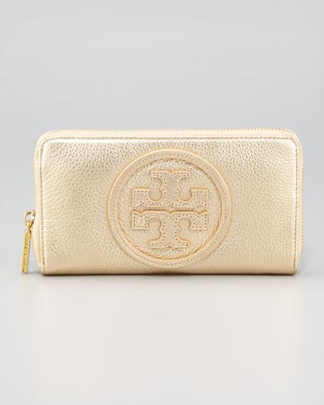 Metallic Continental-Zip Wallet