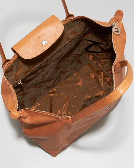 Le Pliage Cuir Shoulder Tote Bag