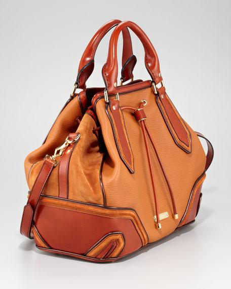 Medium Suede-Leather Tote Bag
