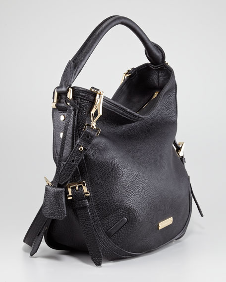 Leather Hobo Bag, Medium