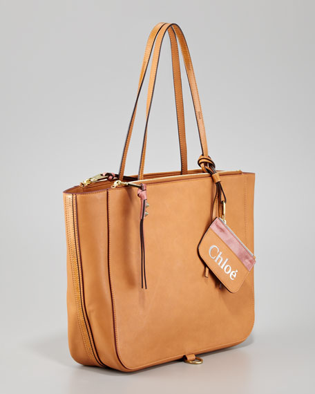 Faux-Leather Tote Bag