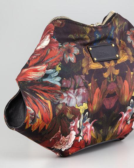 Painted Flowers De-Manta Clutch Bag
