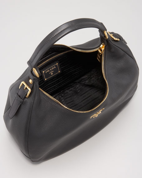 Vitello Daino Zip-Top Hobo Bag