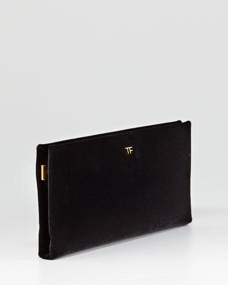TF Flat Velvet Clutch Bag